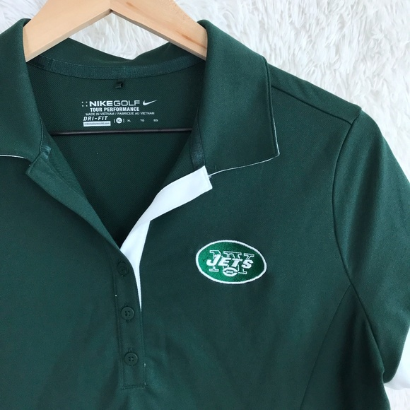 40d01b5d Nike Tops   Golf Ny Jets Nfl Green Polo Shirt Xl   Poshmark